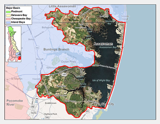 Assawoman Bay Watershed Map