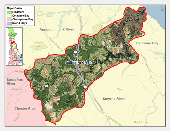 Blackbird Creek Watershed Map