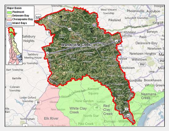 Brandywine Creek Watershed Map