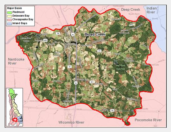 Broad Creek Watershed Map