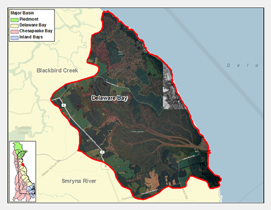 Delaware Bay Drainage Watershed Map
