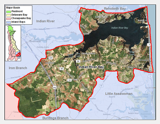 Indian River Bay Watershed Map