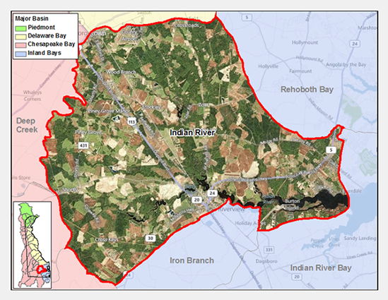 Indian River Watershed Map