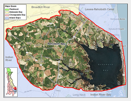 Rehoboth Bay Watershed Map
