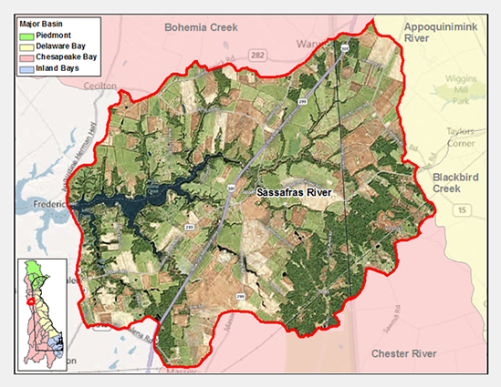 Sassafras River Watershed Map