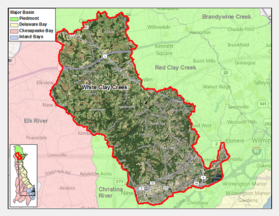 White Clay Creek Watershed Map