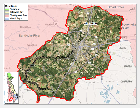 Wicomico River Watershed Map